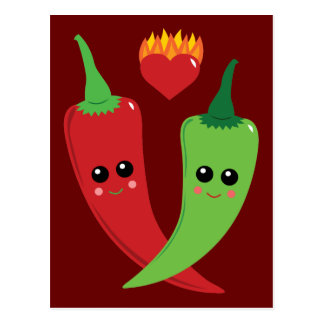 Kawaii Hot Pepper Postcards