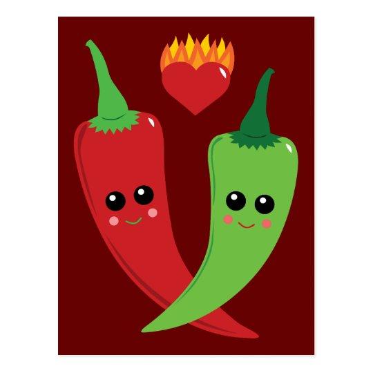 Kawaii Hot Pepper Postcard