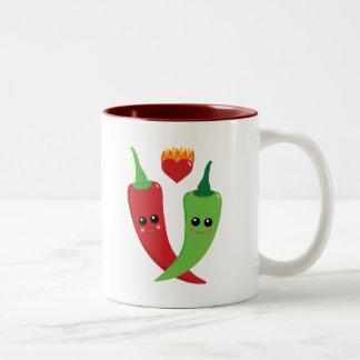 Kawaii Hot Pepper Two-Tone Coffee Mug