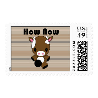 Kawaii How Now Brown Cow stamps