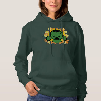 Kawaii Hulk With Marvel Hero Icons Hoodie