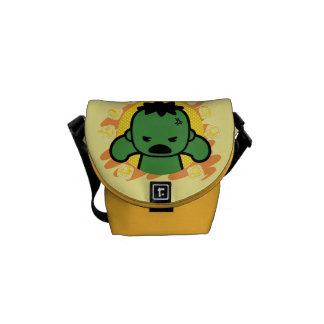 Kawaii Hulk With Marvel Hero Icons Messenger Bag