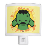 Kawaii Hulk With Marvel Hero Icons Night Light