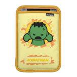 Kawaii Hulk With Marvel Hero Icons Sleeve For iPad Mini
