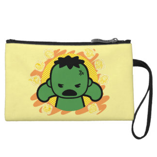 Kawaii Hulk With Marvel Hero Icons Wristlet