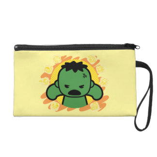 Kawaii Hulk With Marvel Hero Icons Wristlet Purse
