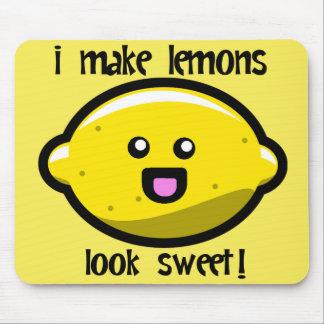 ¡Kawaii I hace el dulce de la mirada de los limone Alfombrilla De Raton