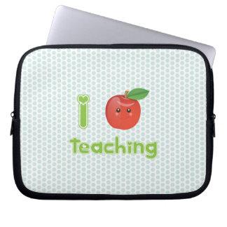 Kawaii I heart teaching - Laptop Sleeve