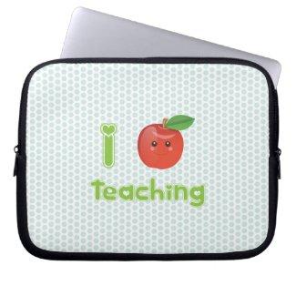 Kawaii I heart teaching - Laptop Sleeve electronicsbag