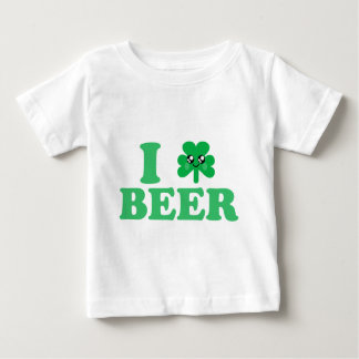 KAWAII I LOVE BEER SHAMROCK LUCKY IRISH HAPPY FACE BABY T-Shirt