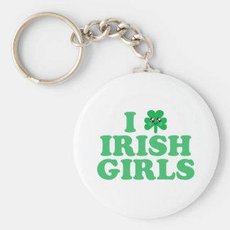 KAWAII I LOVE IRISH GIRLS SHAMROCK LUCK KEYCHAIN