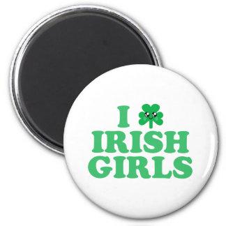 KAWAII I LOVE IRISH GIRLS SHAMROCK LUCK MAGNET