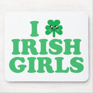 KAWAII I LOVE IRISH GIRLS SHAMROCK LUCK MOUSE PAD