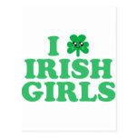 KAWAII I LOVE IRISH GIRLS SHAMROCK LUCK POST CARD