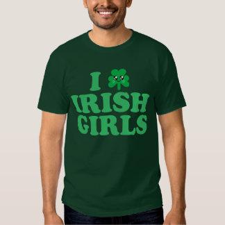"""Kawaii """"I Love Irish Girls"""" Shamrock T-shirt"""