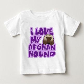 Kawaii I Love My Afghan Hound Baby's Baby T-Shirt