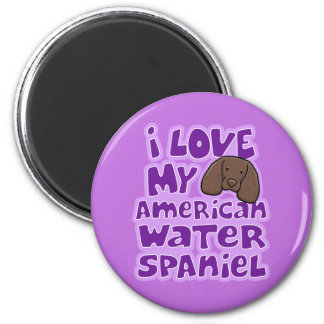 Kawaii I Love My American Water Spaniel Refrigerator Magnet