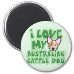 Kawaii I Love My Australian Cattle Dog (Red) Magnet