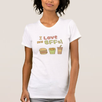 Kawaii I Love My BFFs Burger French Fries Soda T-Shirt