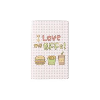 Kawaii I Love My BFFs Fast Food Doodle Pocket Moleskine Notebook