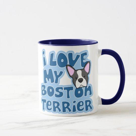 Kawaii I Love My Boston Terrier Mug