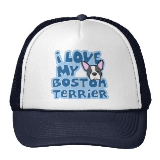 Kawaii I Love My Boston Terrier Trucker Hat
