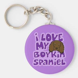 Kawaii I Love My Boykin Spaniel Keychain