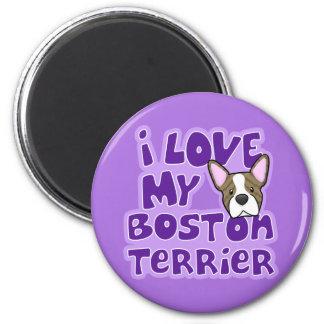 Kawaii I Love My Brindle Boston Terrier Magnet
