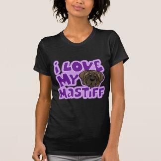 Kawaii I Love My Brindle Mastiff T Shirts