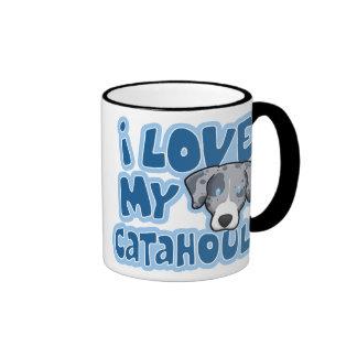 Kawaii I Love My Catahoula Ringer Coffee Mug