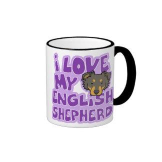 Kawaii I Love My English Shepherd Ringer Coffee Mug