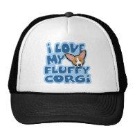 Kawaii I Love My Fluffy Corgi Trucker Hats