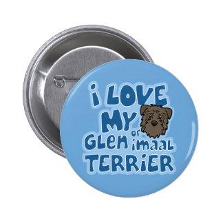 Kawaii I Love My Glen of Imaal Terrier Pinback Button