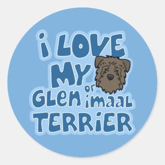 Kawaii I Love My Glen of Imaal Terrier Classic Round Sticker