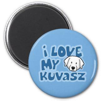 Kawaii I Love My Kuvasz 2 Inch Round Magnet