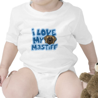 Kawaii I Love My Mastiff Bodysuits