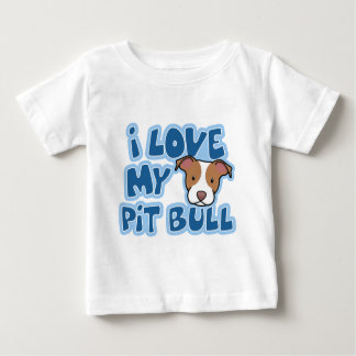 Kawaii I Love My Pit Bull Child's Baby T-Shirt