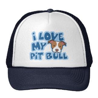 Kawaii I Love My Pit Bull Trucker Hat