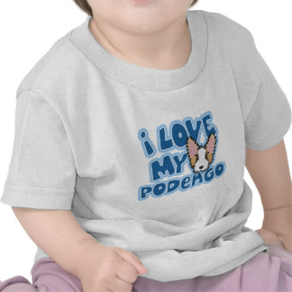 Kawaii I Love My Portuguese Podengo Baby's T Shirts
