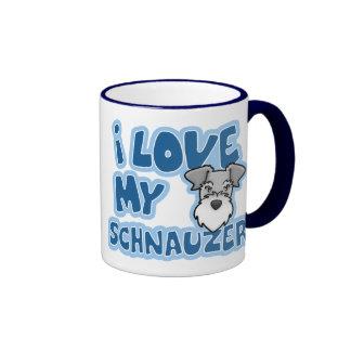 Kawaii I Love My Schnauzer Ringer Mug