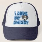 Kawaii I Love My Swissy Trucker Hat