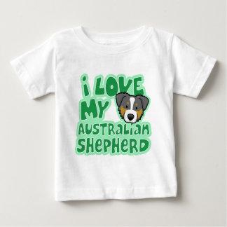 Kawaii I Love My Tri Color Australian Shepherd Tshirts