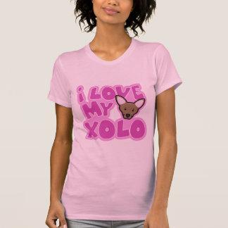 Kawaii I Love my Xolo Ladies Tee Shirt