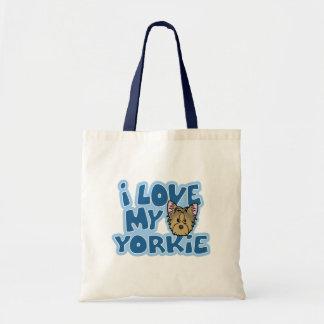 Kawaii I Love My Yorkie Budget Tote Bag