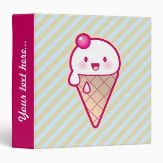 Kawaii Ice Cream 3 Ring Binder