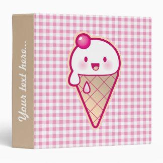 Kawaii Ice Cream Vinyl Binders