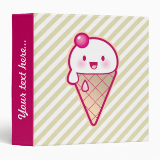 Kawaii Ice Cream Binders