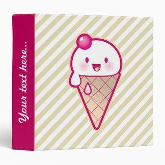 "Kawaii Ice Cream Carpeta 1 1/2"""