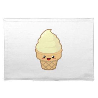 Kawaii Ice Cream Cloth Placemat