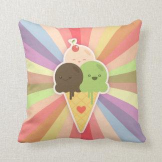 Kawaii Ice Cream Cone pillow